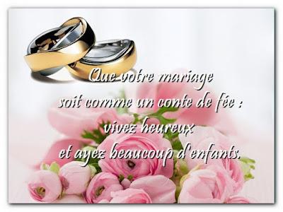 Message d'amitié pour féliciter un mariage