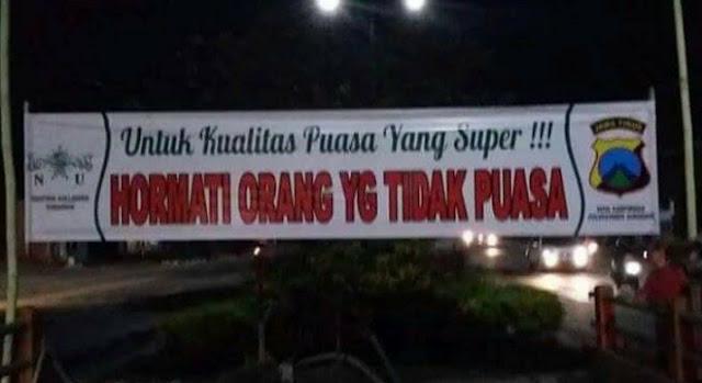 Miris......Hanya Terjadi Diera Presiden Jokowi, Orang Puasa Diminta Hormati Yang Tidak Puasa