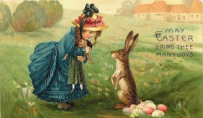 В Европе на Пасху яйца «приносит» кролик. | Фото: s1.babiki.ru.