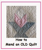 How to fix and old quilt by hand stitching it