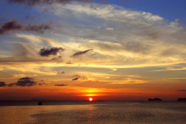 koh phangan island Thailand sunset