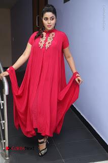 Actress Poorna Latest Stills in Red Dress at Rakshasi First Look Launch  0296.JPG