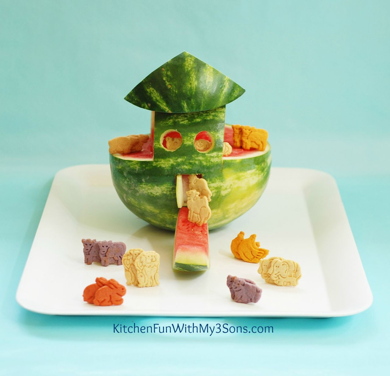 Noah S Ark Watermelon Snack Kitchen Fun With My 3 Sons