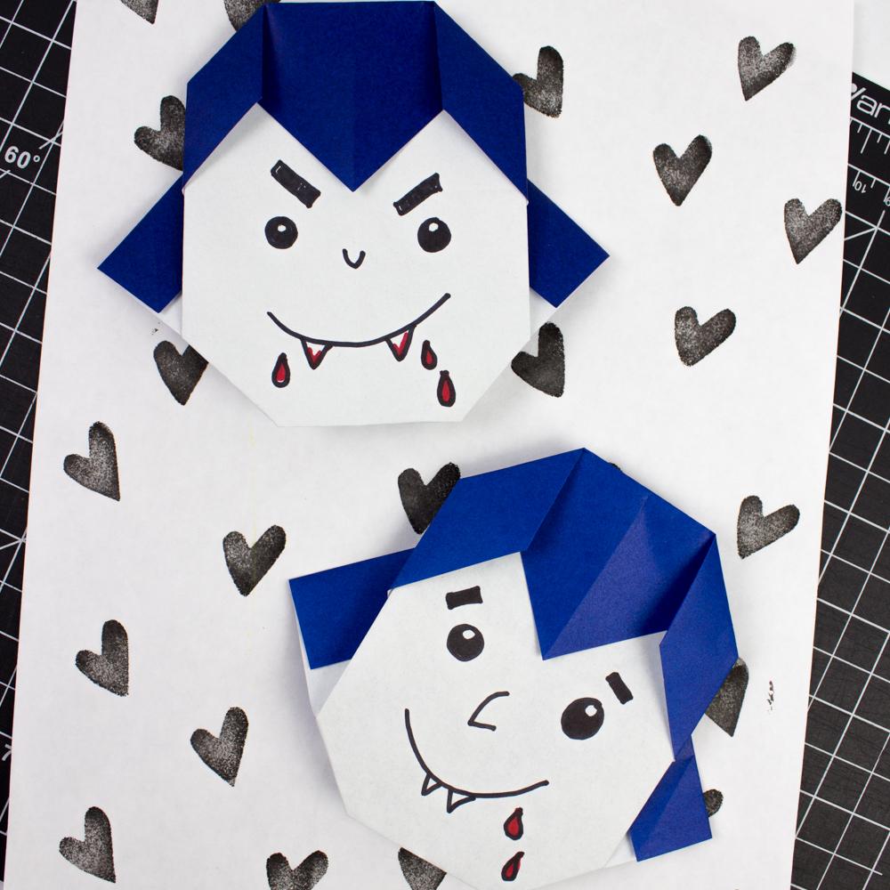How To Fold Easy Origami Vampires Pink Stripey Socks
