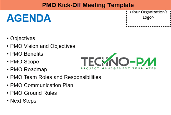 Project kickoff meeting template, PMO Kick Off Meeting Template
