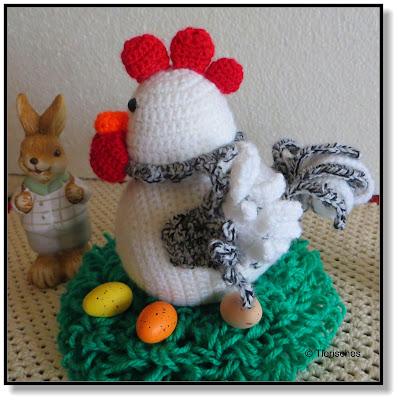 häkeln, Huhn, Ostern