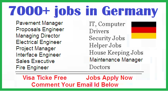 7000 job vacancy in germany apply now all gulf vacancy. Black Bedroom Furniture Sets. Home Design Ideas