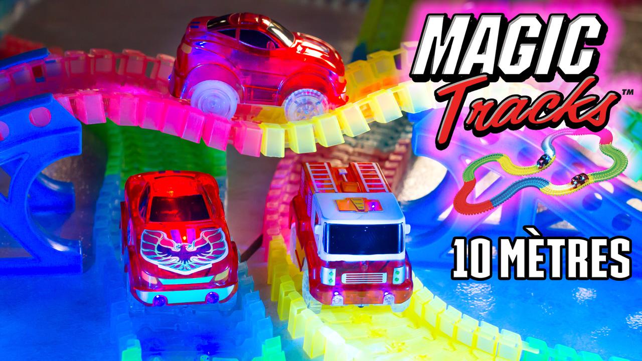 165pc magic tracks Glow in the dark DEL Light Up race car Bend Flex Racetrack