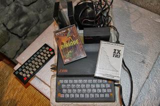 keux panique en cassette et le logiciel ZX Tri pour faire des fiches en basic sur zx81