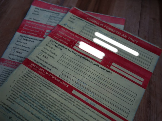 Form Pembatalan Tiket Kereta Api