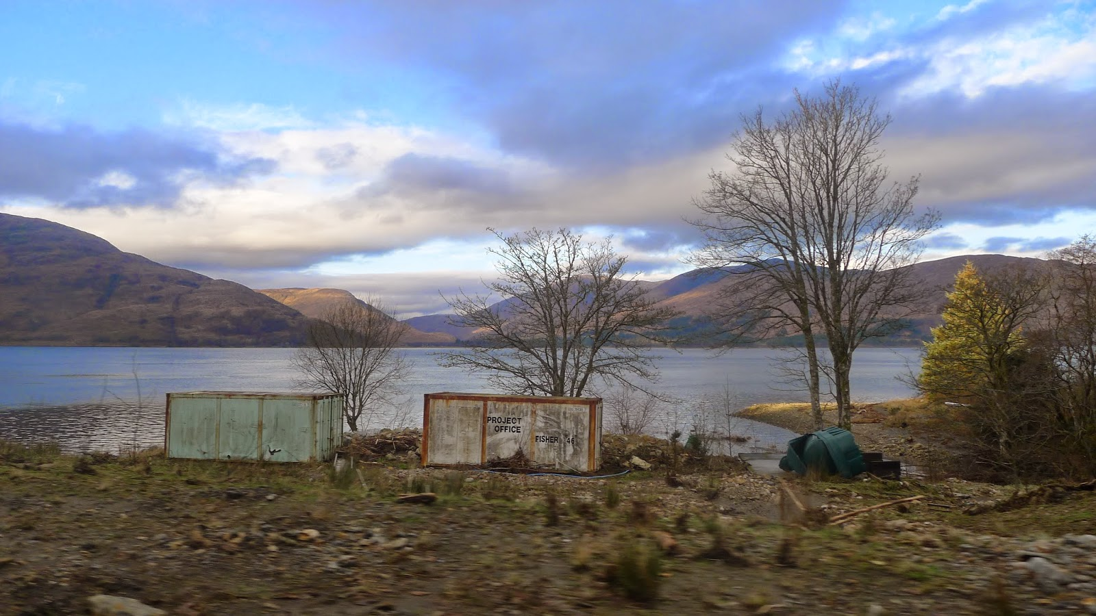 Abandoned by a loch in Scotland