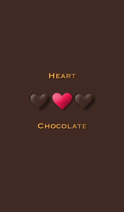 Heart Chocolate ~and pink heart