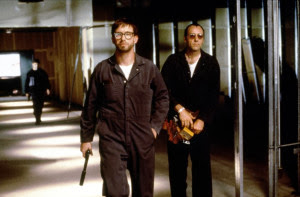 Kevin Spacey as Verbal, the deceptive cripple, The Usual Suspects, Directed by Bryan Singer