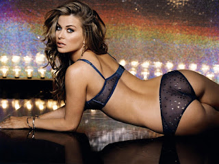Carmen Electra In Purple Lingerie