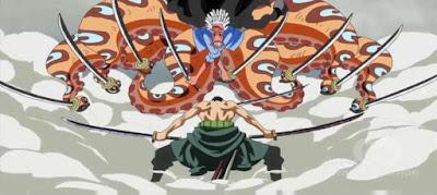 buah pedang ketika bertarung saja sudah terlihat sangat tidak biasa 5 Karakter One Piece ini memakai pedang lebih banyak daripada Zoro