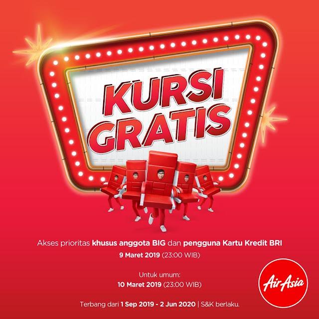 #AirAsia - #Promo 5 Juta Kursi Gratis & Prioritas Kartu Kredit BRI (9 Maret 2019) - Umum (10 Maret 2019)