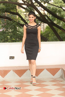 Actress Kamna Ranwat  Pictures in Black Short Dress at Selfie Raja Interview  0313