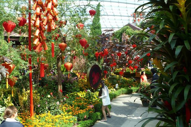 Ogród kwiatowy w Singapurze