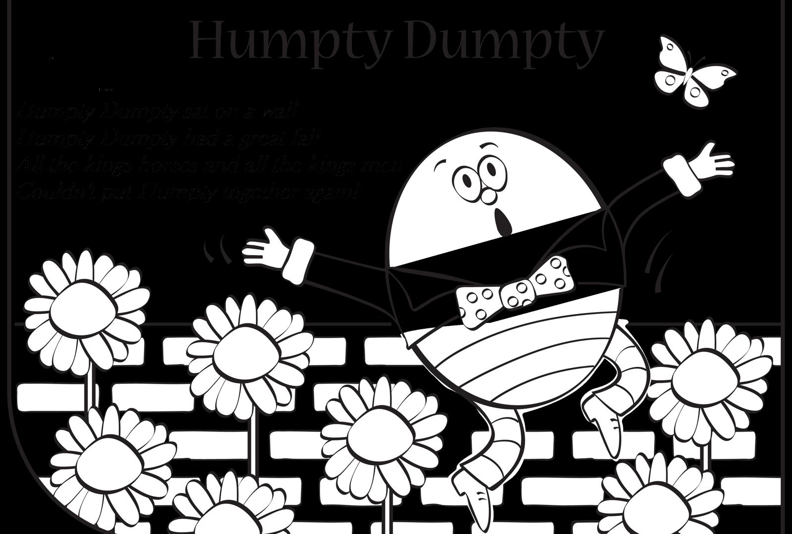 Vistoso Página Para Colorear De Humpty Dumpty Festooning - Ideas ...
