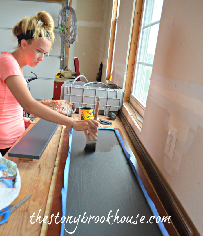 Painting Chalkboard Door