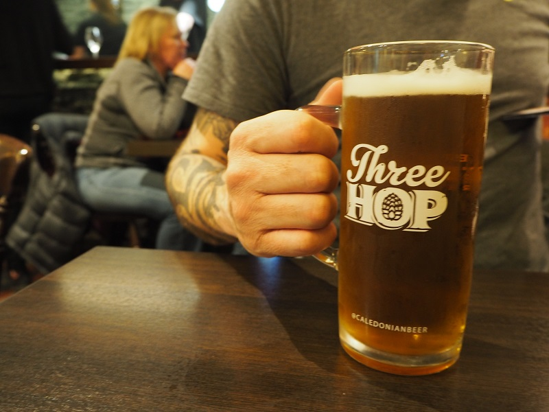 Three Hop Lager at the Elph Bar, Biggar