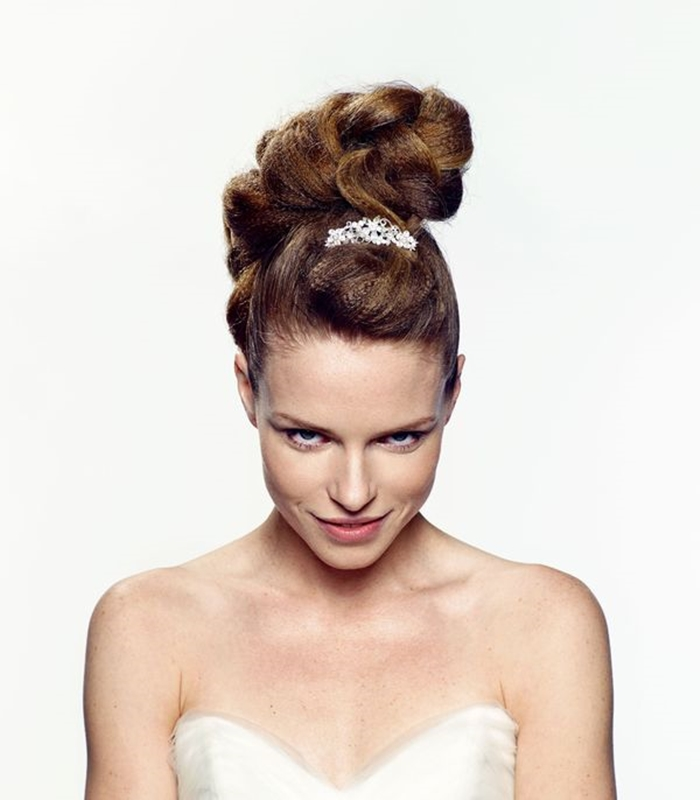 bridal hair wedding updo hairstyle