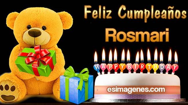 Feliz Cumpleaños Rosmari