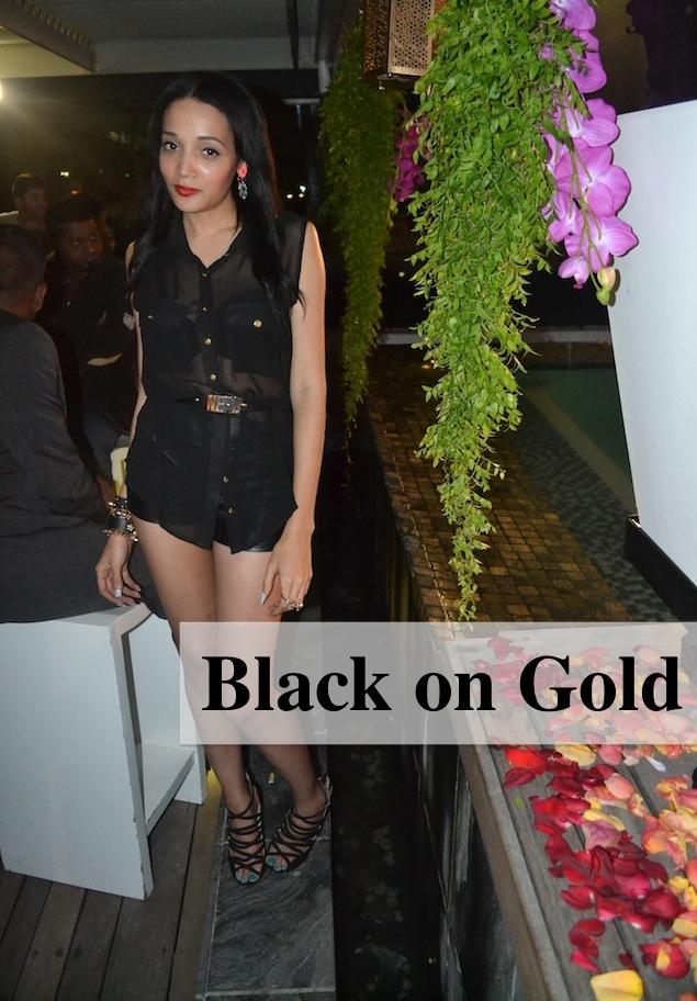 Black on Gold