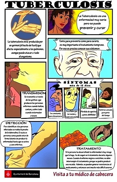 Imagen de la tuberculosis con información y gráficos