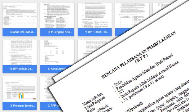 Perangkat Pembelajaran PAI dan Budi Pekerti SMA Kelas 10 Kurikulum 2013 Revisi Terbaru