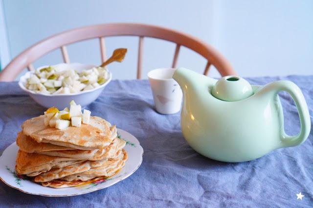 pancakes sans gluten sans lactose petit déjeuner manger sain