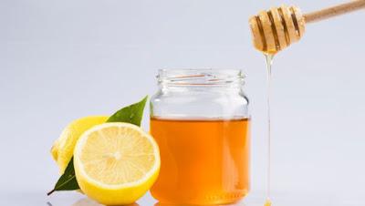 عسل + ملعقة عصير ليمون