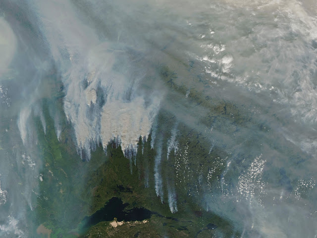 Smoke over Canada