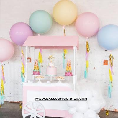 Balon Latex Macaron (Ukuran 18 Inch)