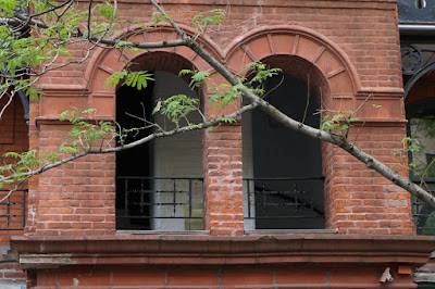 Double arched window like openings for stairwells