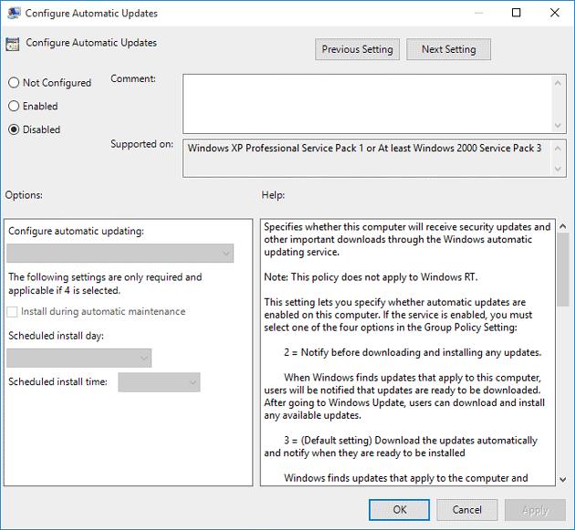 Có nên sử dụng tính năng update windown