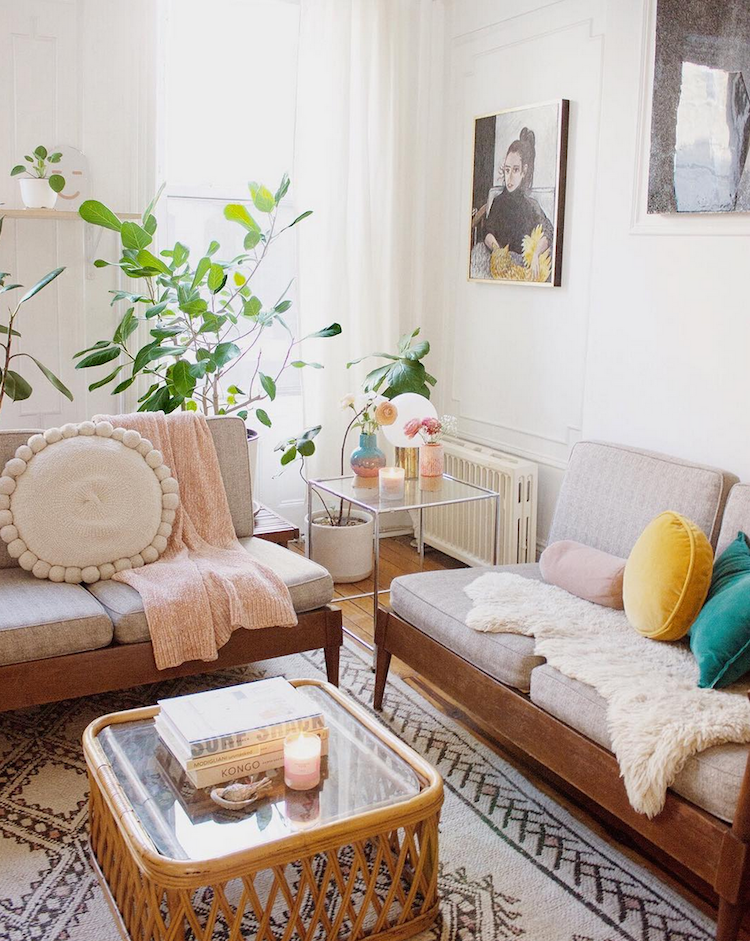 My Scandinavian Home Mid Century Meets Boho In A Brooklyn Home