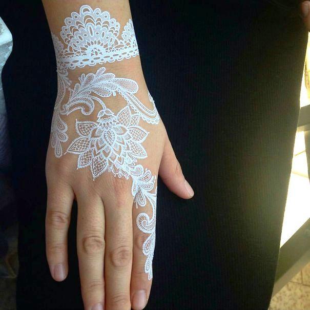 Elegant White Henna Simple Origami For Kids