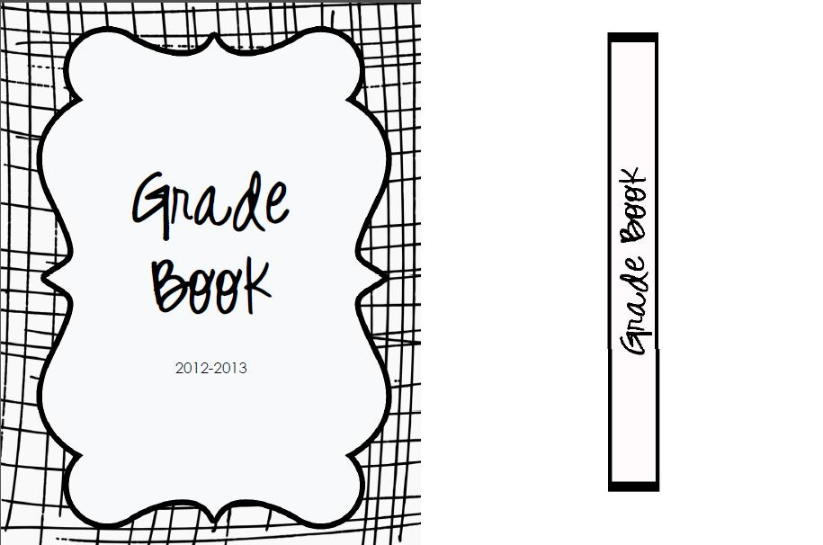 Grade Book Binder Cover and Spine Label