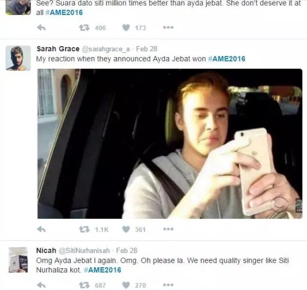 Komen Dato Siti Nurhaliza Tentang Kemenangan Ayda Jebat di Anugerah Meletop Era 2016