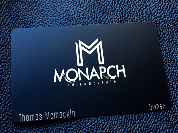Black metal business cards black steel businesss cards marketed business cards can come readily available in metalwood you can create your cards with the logo for your business or request that our expert technicians do colourmoves