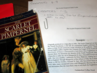 Progeny Press - The Scarlet Pimpernel Study Guide - A Homeschool Coffee Break review for the Schoolhouse Review Crew @ kympossibleblog.blogspot.com