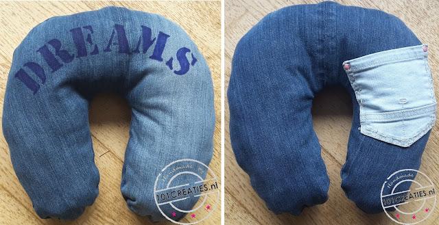 Nekkussen van oude jeans