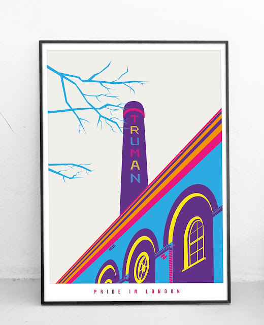 Old Truman Brewery London Pride Art Print