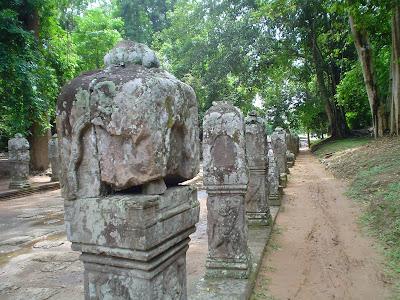 Rocha escultura em Angkor Wat - Camboja