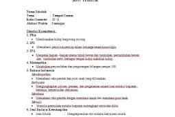 Download RPP Tematik Untuk Kelas 1 SD Kurikulum KTSP