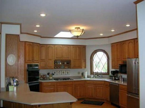 Fluorescent Light Fixture In Kitchen