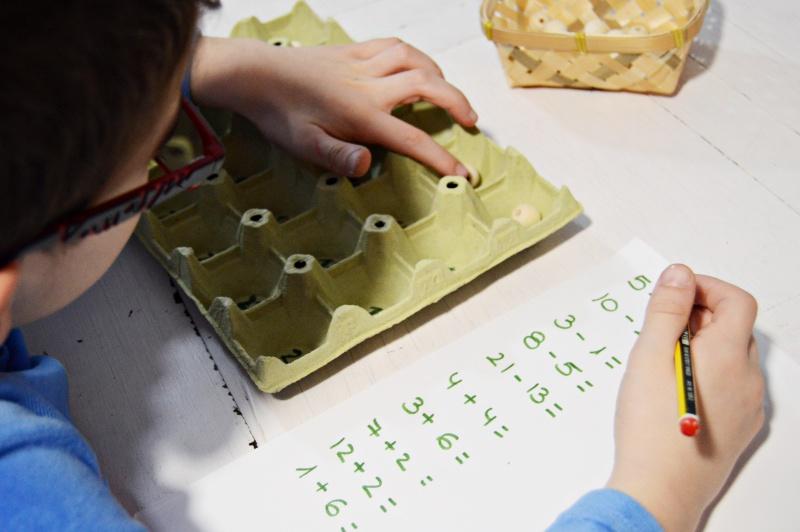 recurso matematico casero para aprender a sumar y restar