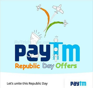 Paytm Republic Day Offers –  Paytm Republic Day Special Offers and Sale