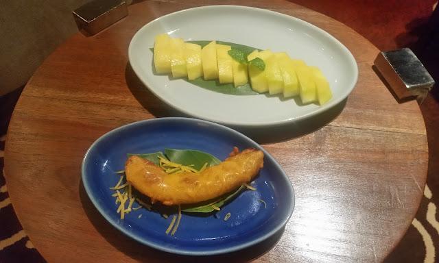 Banana Fritters and Fruits